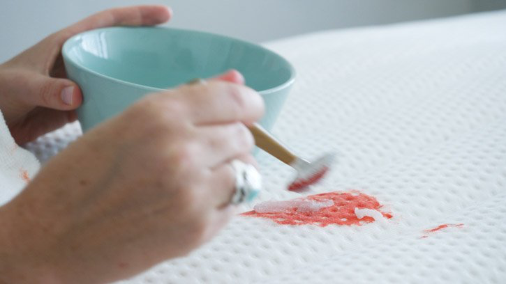 Removing blood with salt