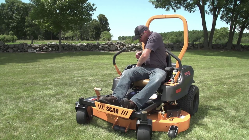 Remove the mower from the parking brake