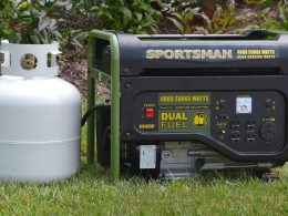 How much propane does a generator use